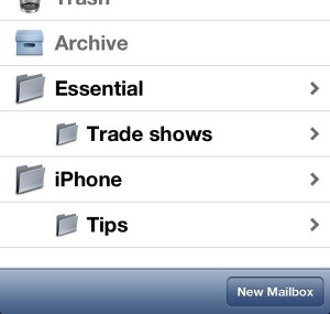 iPhone new mailbox button 300x285 iPad/iPhone tip: How to create new email folders (reader mail)