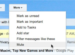 Gmail mute conversation option Gmail tip: How to mute an endless email thread
