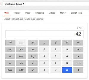 Google web calculator