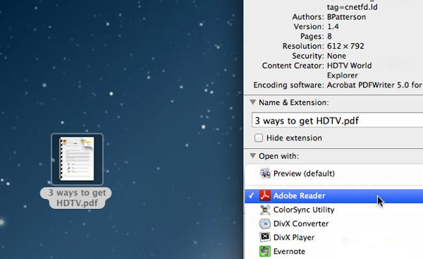 How to change default programs on a Mac