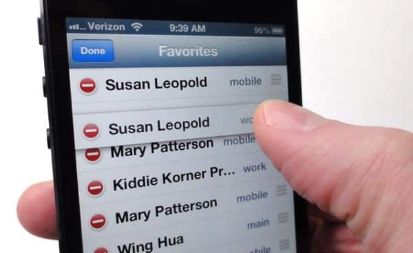 iPhone tip: How to rearrange your phone favorites