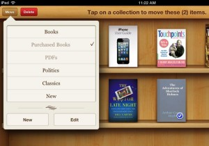 iPad create new iBooks collection