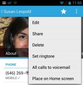Android People app options 293x300 Android tip: How to add a contact to your home screen