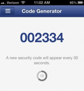 Facebook for iPhone Code Generator 279x300 Facebook for iPhone: 5 handy features you need to try