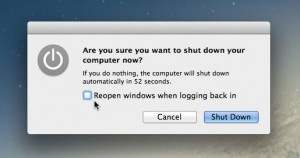 Mac shutdown prompt