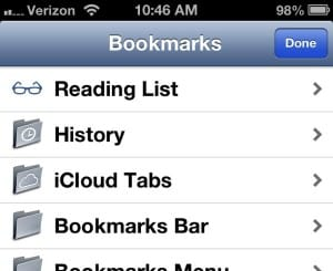 Reading List on iPhone