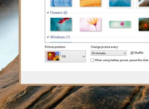 Windows desktop background settings