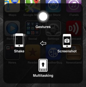 AssistiveTouch Shake Multitasking Gestures buttons