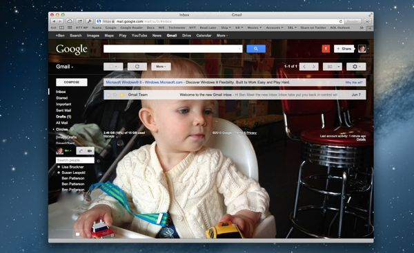 Gmail tip: Decorate your inbox with custom photo backgrounds