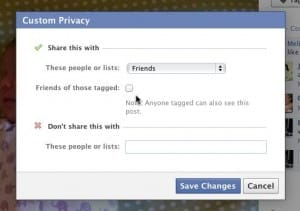 Facebook photos friends of those tagged setting 300x211 Facebook tip: 4 ways to keep photos, likes, and comments private (updated)