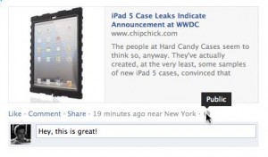 Facebook privacy setting on a post 300x176 Facebook tip: 4 ways to keep photos, likes, and comments private (updated)