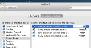 Mac keyboard shortcuts settings