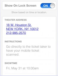 iPhone Passbook card details