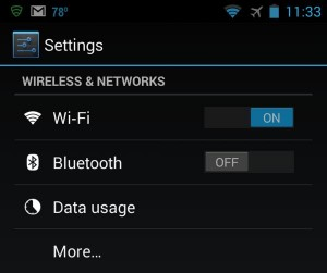 Android Wi-Fi settings