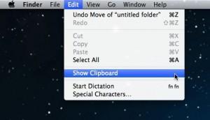 Mac Show Clipboard menu item