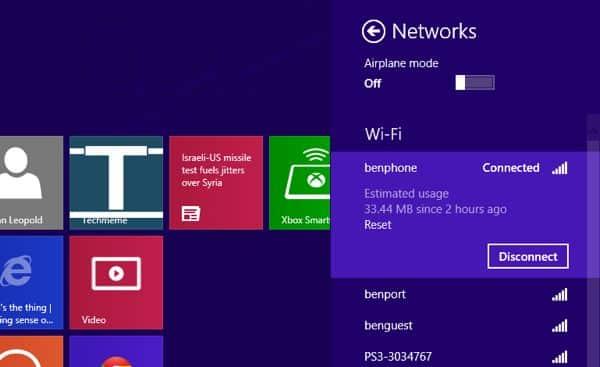 Windows 8 tip: Keep an eye on your mobile data usage