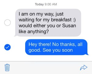 iOS 7 forward a text message