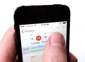 Search button in iOS 7 Calendar app