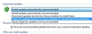Windows Update auto-download settings