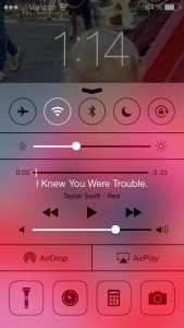 iOS 7 Control Center on lock screen