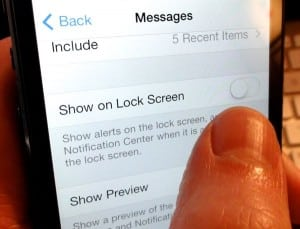 iOS 7 Message notification settings