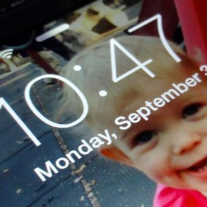 iOS 7 bold text on lock screen