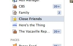 facebook friends list - Facebook Close Friends list