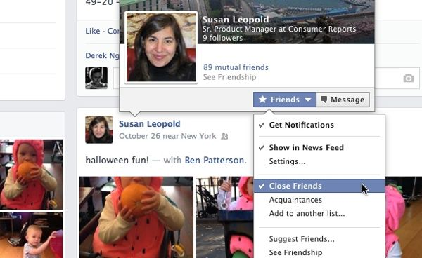 facebook friends list - Facebook tip: How to see more of your besties in your news feed