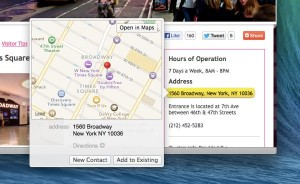 "OS X ""Mavericks"" tip: Pinpoint an address on a map within Safari"