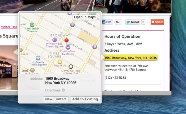 "Mac OS X ""Mavericks"" tip: Map a street address within Safari"