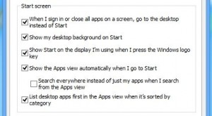 Windows 8.1 Start screen options