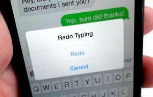 iOS 7 Shake to redo typing