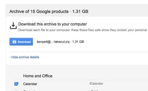 Google tip: Download a giant archive of all your Google data