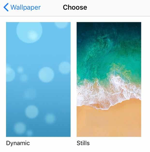 iOS dynamic wallpaper