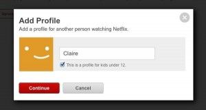 Adding a new Netflix profil