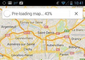 Google Maps pre-loading offline map