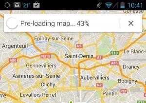 Google Maps pre-loading offline map