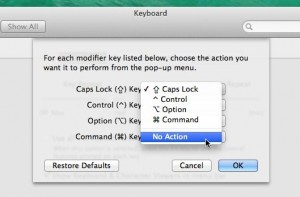 Mac Caps Lock settings