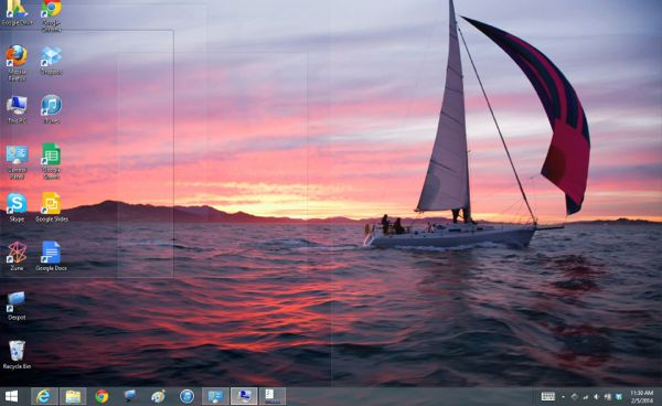 "Windows tip: Take a quick ""Peek"" at your bare desktop"