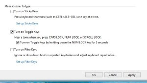 Windows Toggle Keys settings