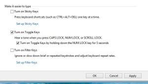 Windows Toggle Keys settings