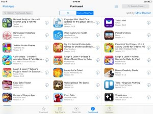 iPad purchased apps screen 300x225 iOS 7 tip: How to re download apps, music, movies, and TV shows
