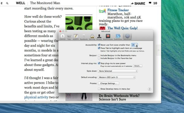 Mac tip: Keep font sizes in Safari from getting too small