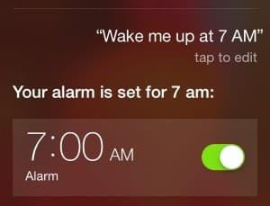 Use Siri to set an alarm