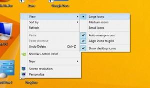 Windows change desktop icon size