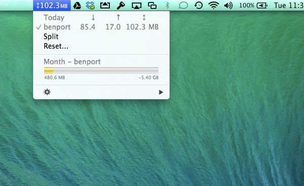 Mac app: Keep an eye on your mobile data usage (Bandwidth+)