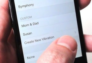 Create custom iPhone vibrations