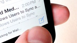 A quicker way to get to your iPhone email drafts