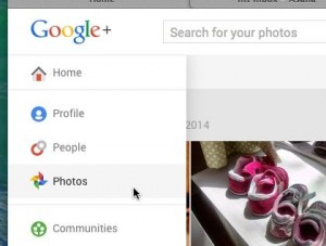 Google+ Photos tab