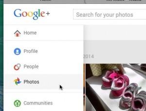 Google+ Photos tab